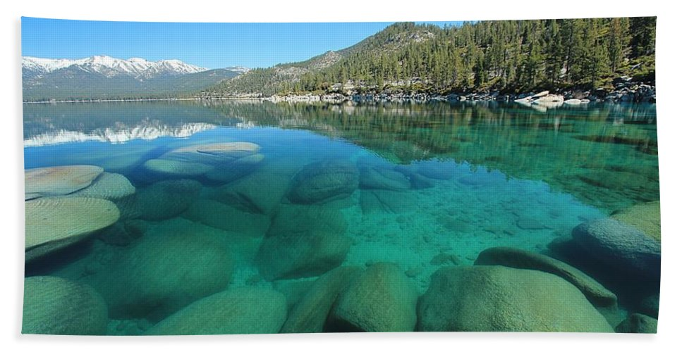 Lake Tahoe Hand Towel featuring the photograph Seduction by Sean Sarsfield