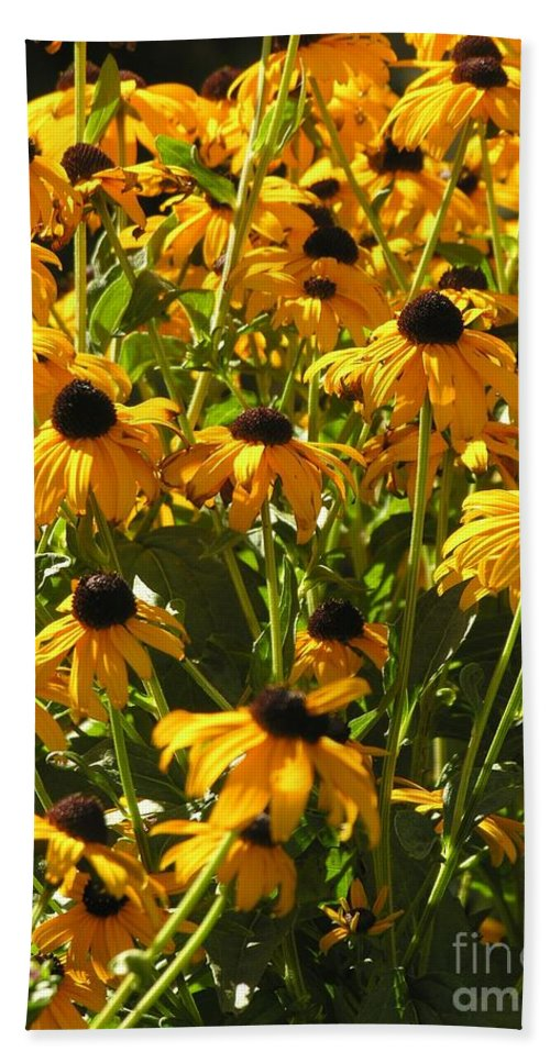 Sunflower Bath Towel featuring the photograph See Us Together by Diane Greco-Lesser