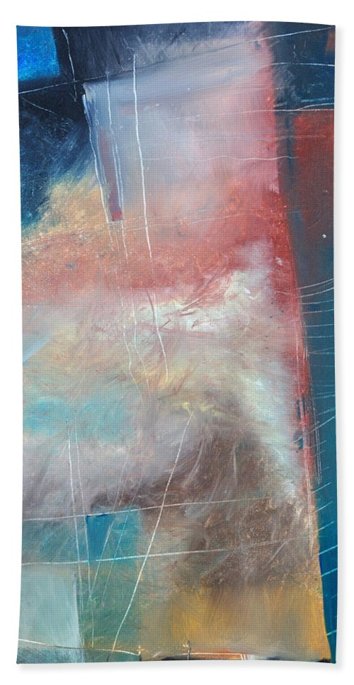Brown Bath Towel featuring the painting See What Brown Can Do For You by Tim Nyberg