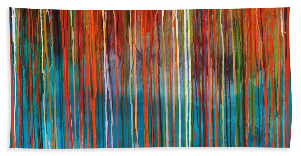 Fusionart Bath Sheet featuring the painting Seed by Ralph White