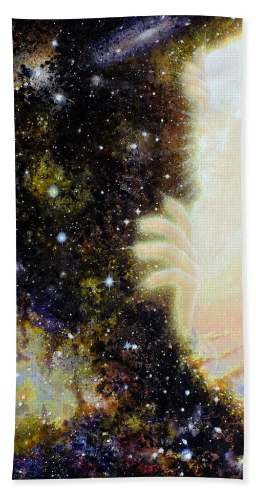 God Hand Towel featuring the painting Seeing Beyond by Graham Braddock