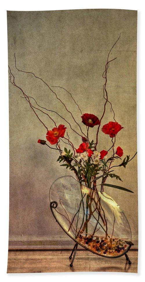 Flower Bath Sheet featuring the photograph Seeking Harmony by Evelina Kremsdorf