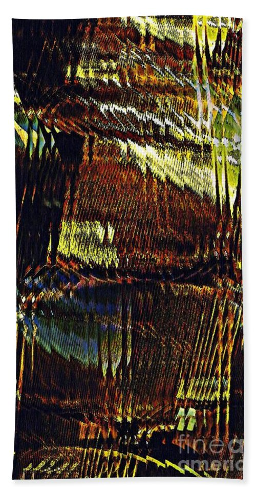 Line Hand Towel featuring the photograph Segmented Light by Sarah Loft