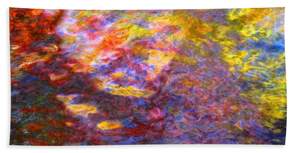 Abstract Hand Towel featuring the photograph Coming Together by Sybil Staples