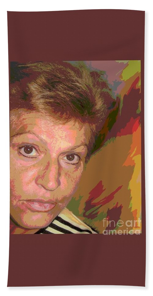 Self Portrait Bath Sheet featuring the photograph self portrait IV by Dragica Micki Fortuna