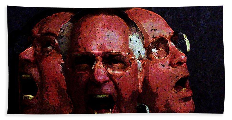 Portrait Hand Towel featuring the digital art Selves Portrait by Ron Bissett