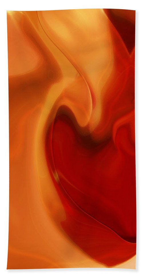 Sensual Love Hand Towel featuring the digital art Sensual Love by Linda Sannuti