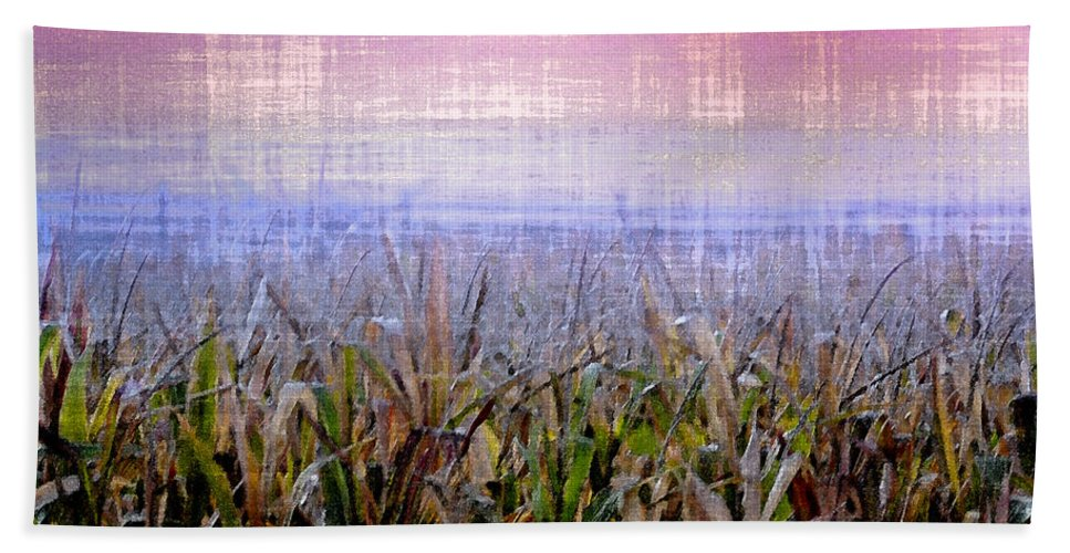 September Hand Towel featuring the photograph September Cornfield by Bill Cannon