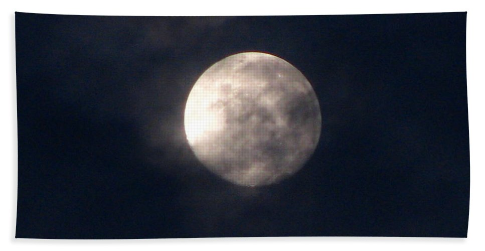 September Moon Bath Towel featuring the photograph September Moon by Greg Patzer
