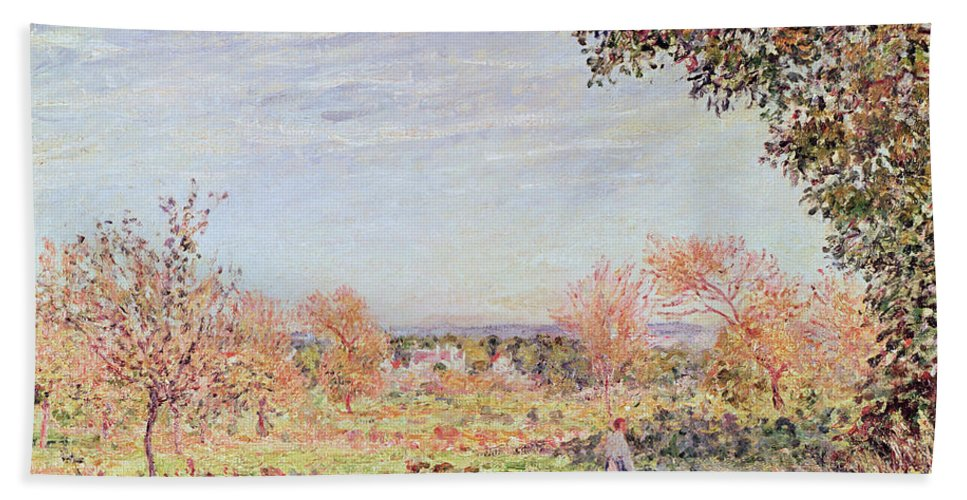 September Morning Bath Sheet featuring the painting September Morning by Alfred Sisley