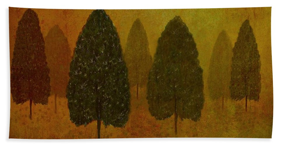 Tree Hand Towel featuring the photograph September Trees by David Dehner