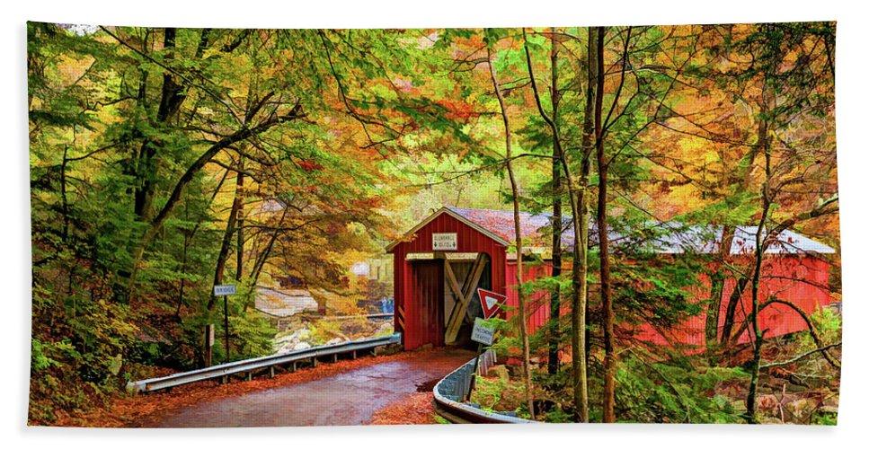 Pennsylvania Bath Sheet featuring the photograph Serendipity Painted by Steve Harrington