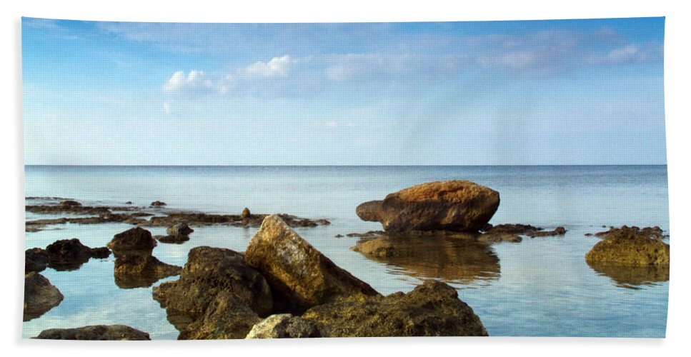 Abstract Bath Sheet featuring the photograph Serene by Stelios Kleanthous