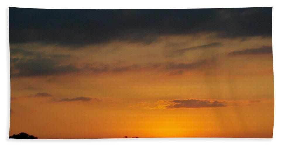 Hand Towel featuring the photograph Serengeti Sunset by Jenny Gandert