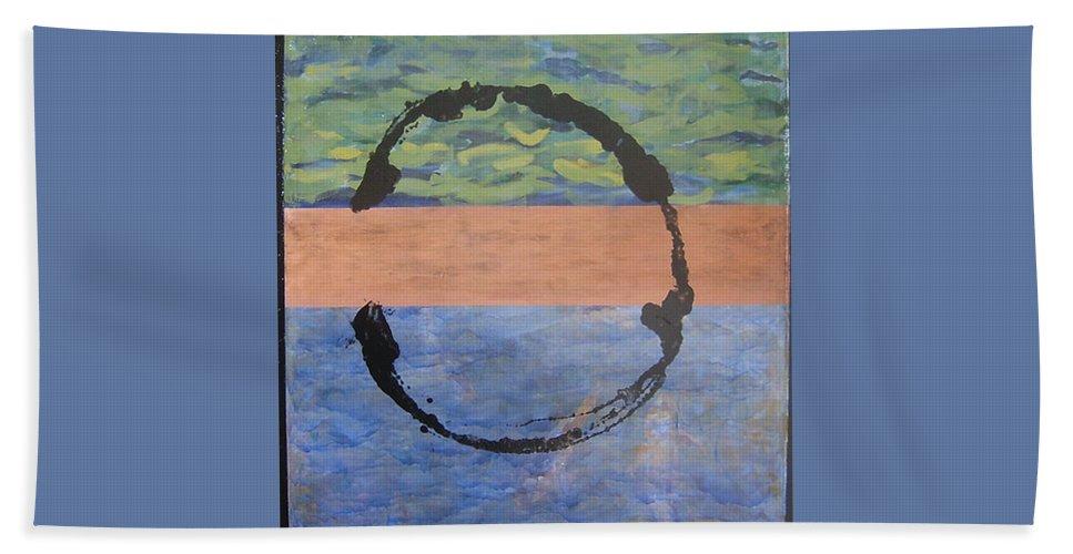 Serenity Bath Sheet featuring the painting Serenity by Ellen Beauregard