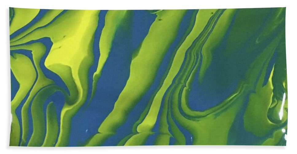 Yellow Hand Towel featuring the painting Serenity by Regina Jeffers