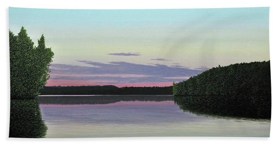 Landscape Hand Towel featuring the painting Serenity Skies by Kenneth M Kirsch