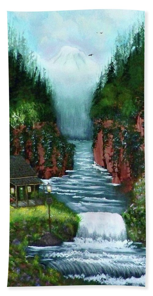 Photography Hand Towel featuring the photograph Serenity Valley by Laurie Kidd