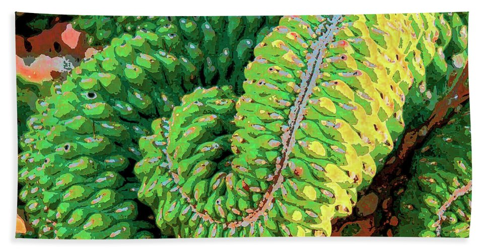Cactus Hand Towel featuring the mixed media Serpentine by Dominic Piperata