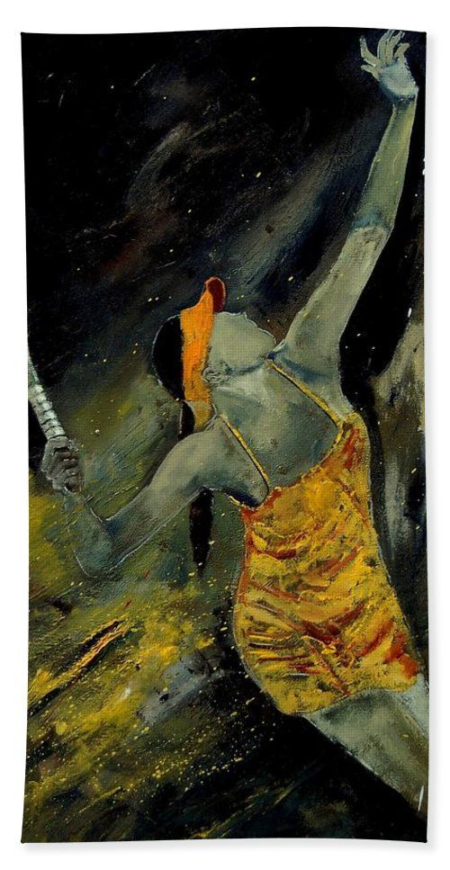 Sports Hand Towel featuring the painting Service by Pol Ledent