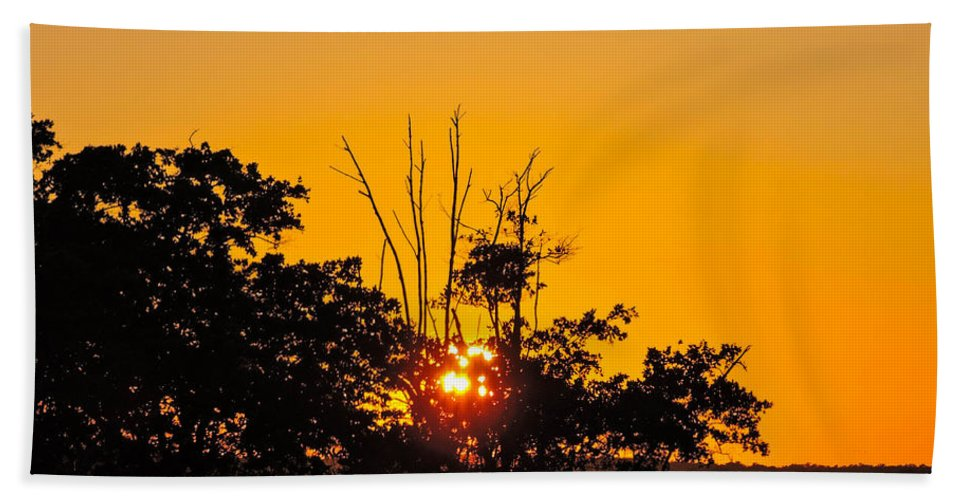 Sunset Hand Towel featuring the photograph Setting Mangrove Sun by Marilee Noland