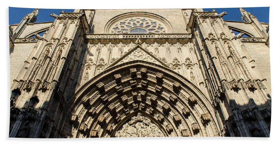 Cathedral Of Seville Hand Towel featuring the photograph Seville - The Cathedral by Andrea Mazzocchetti