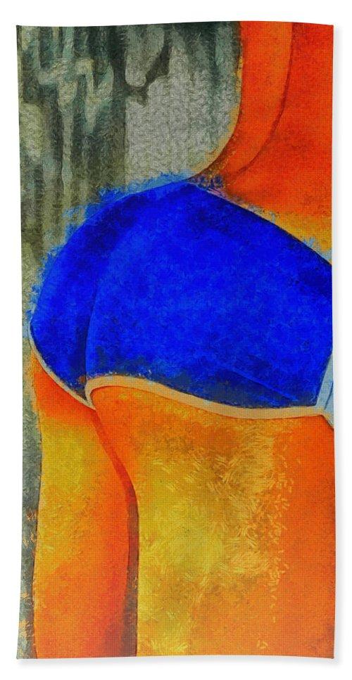 Girl Hand Towel featuring the digital art Sexy Girl - Da by Leonardo Digenio