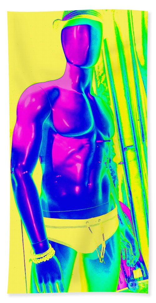 Digital Hand Towel featuring the digital art Sexy Sammy by Ed Weidman