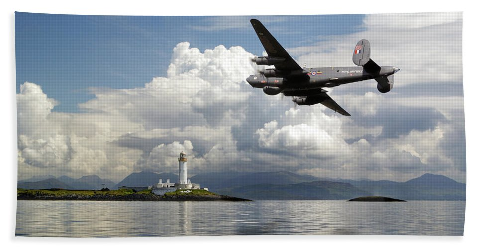 Aew2 Bath Sheet featuring the photograph Shackleton Heading Out On Patrol by Gary Eason