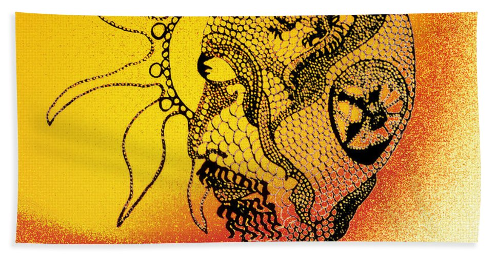 Surrealism Bath Sheet featuring the photograph Shades Of The Seventies by Susan Capuano