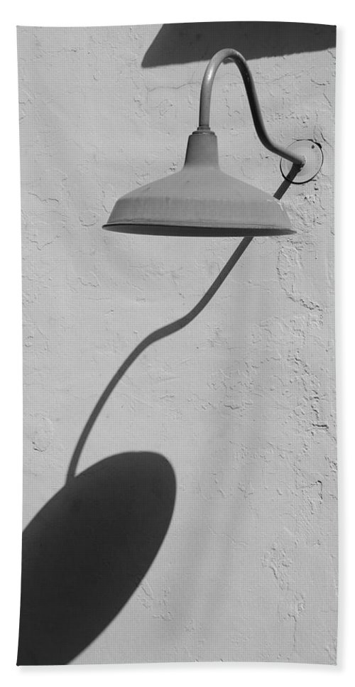 Black And White Bath Sheet featuring the photograph Shadow Lamp by Rob Hans