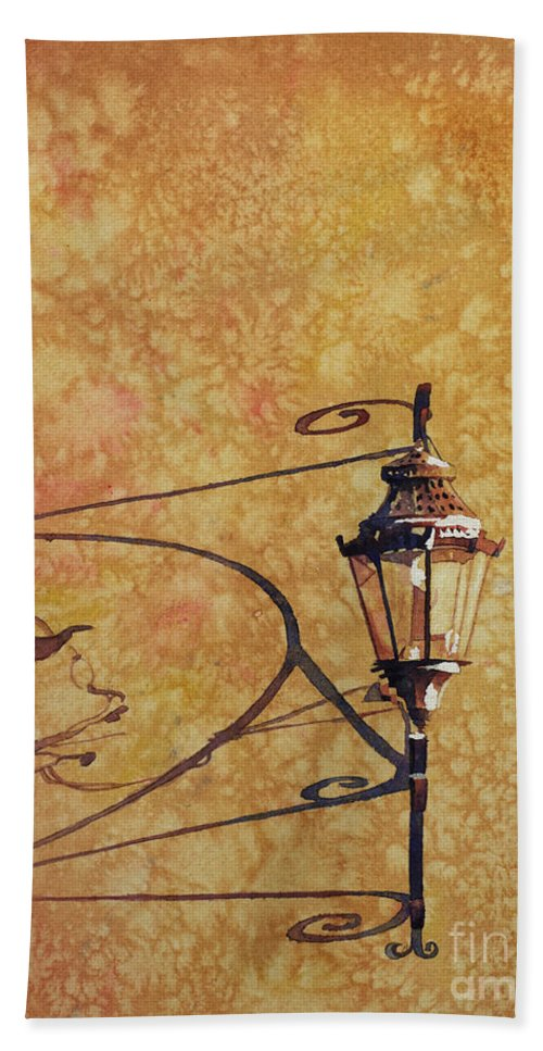Guanajuato Mexico Hand Towel featuring the painting Shadow Of Light by Ryan Fox