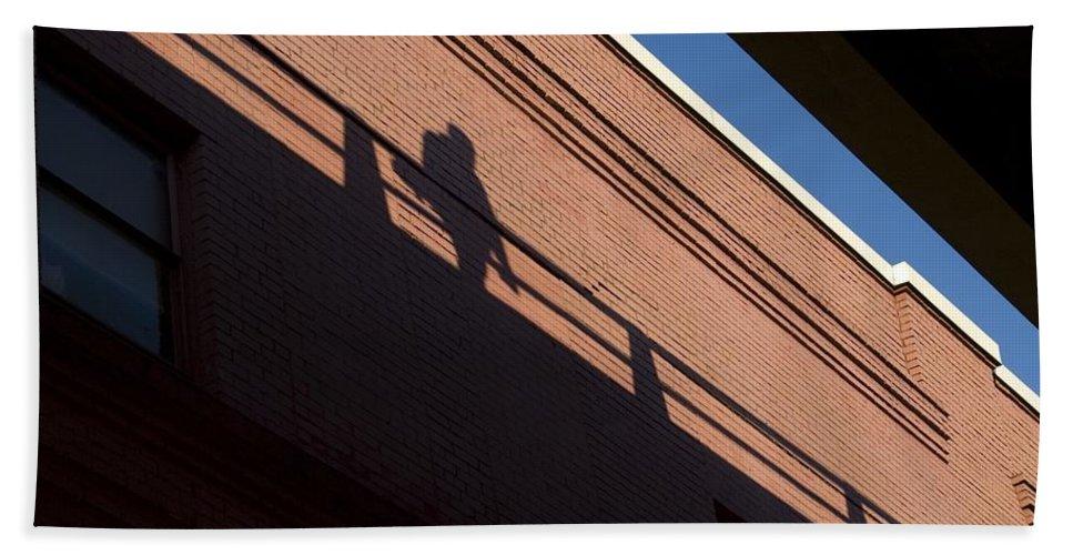 Shadow Bath Sheet featuring the photograph Shadow Skate by Sara Stevenson