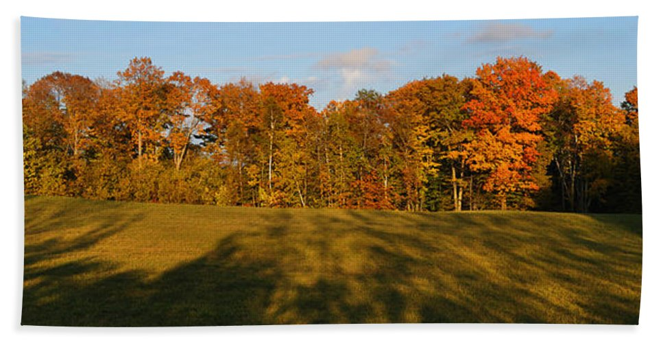 Fall Bath Towel featuring the photograph Shadows Bow by Tim Nyberg