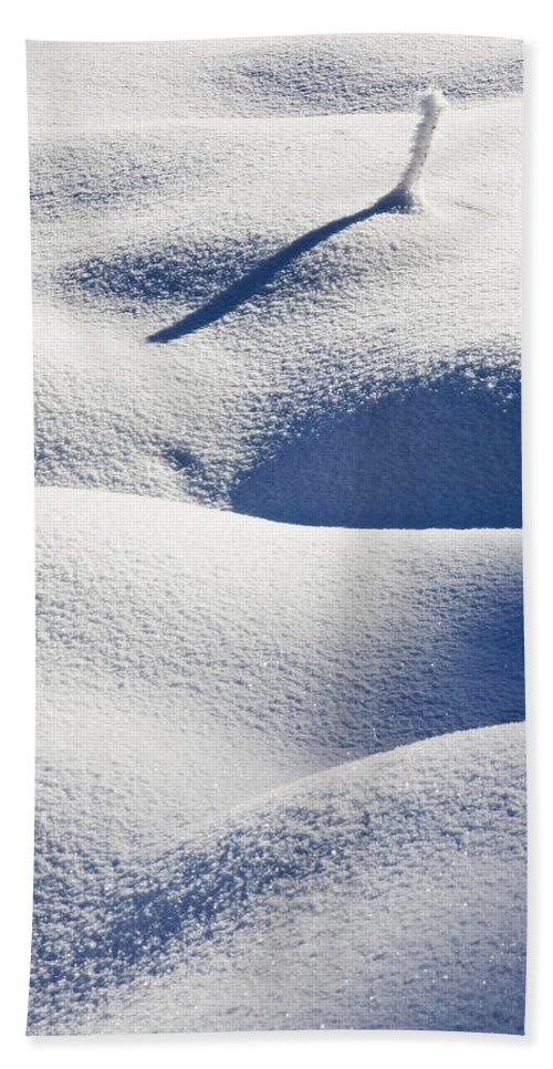 Snow Hand Towel featuring the photograph Shapes Of Winter by Mike Dawson