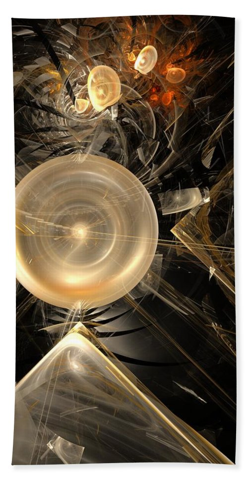 Fine Art.abstract Hand Towel featuring the digital art Shattered Dream by David Lane