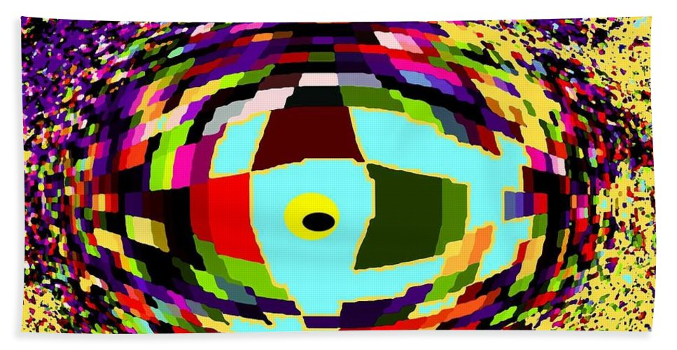 Abstract Bath Towel featuring the digital art Shattered by Ian MacDonald