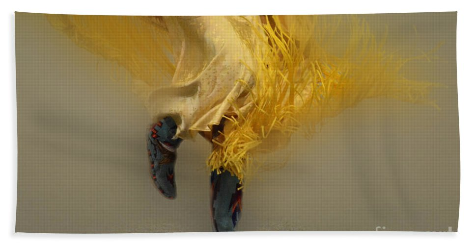 Pow Wow Hand Towel featuring the photograph Pow Wow Shawl Dancer 9 by Bob Christopher