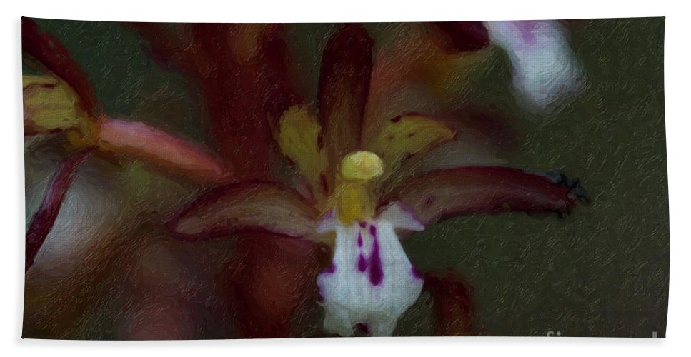 Flower Bath Sheet featuring the painting She Dwells In The Shadows by C L Lassila