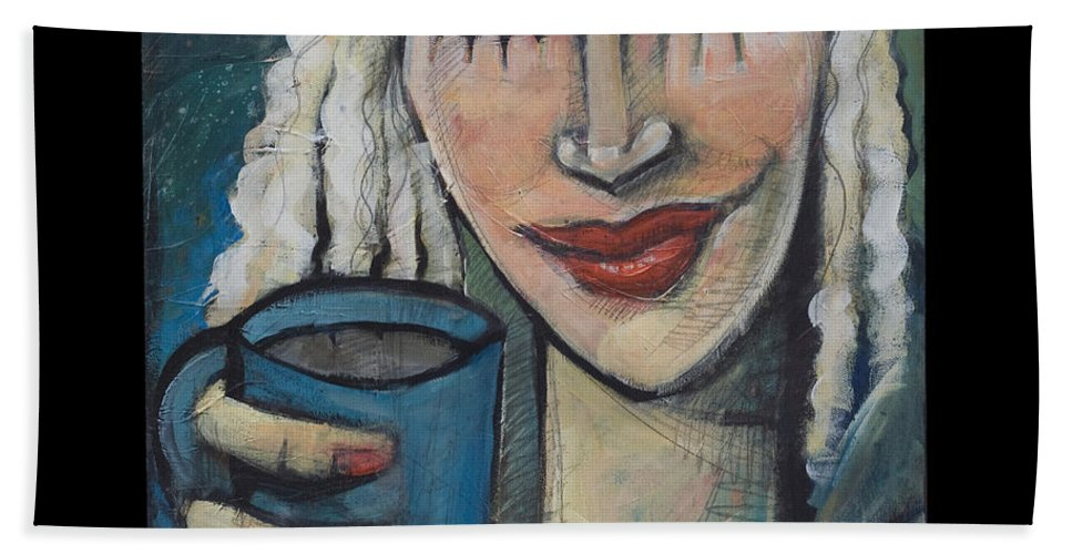 Coffee Hand Towel featuring the painting She Had Some Dreams... Poster by Tim Nyberg