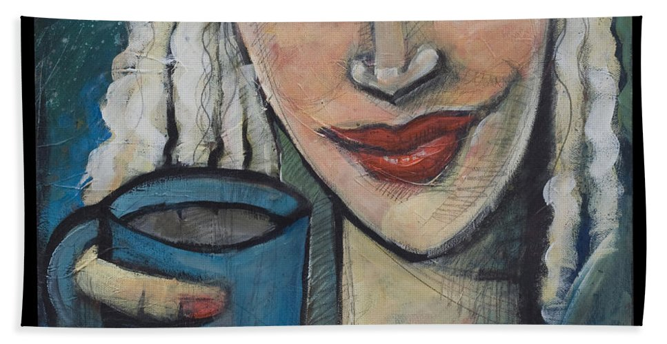 Pleasant Hand Towel featuring the painting She Had Some Dreams... by Tim Nyberg
