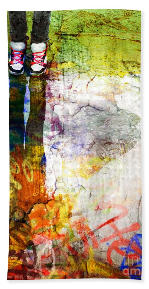 Shoes Hand Towel featuring the photograph She Lives In A Box Of Paint by Tara Turner
