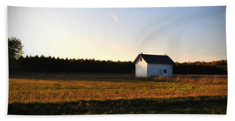 Fall Hand Towel featuring the photograph Shed by Tim Nyberg