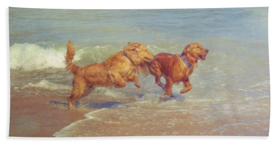 Dog Bath Sheet featuring the photograph Sheer Joy by JAMART Photography