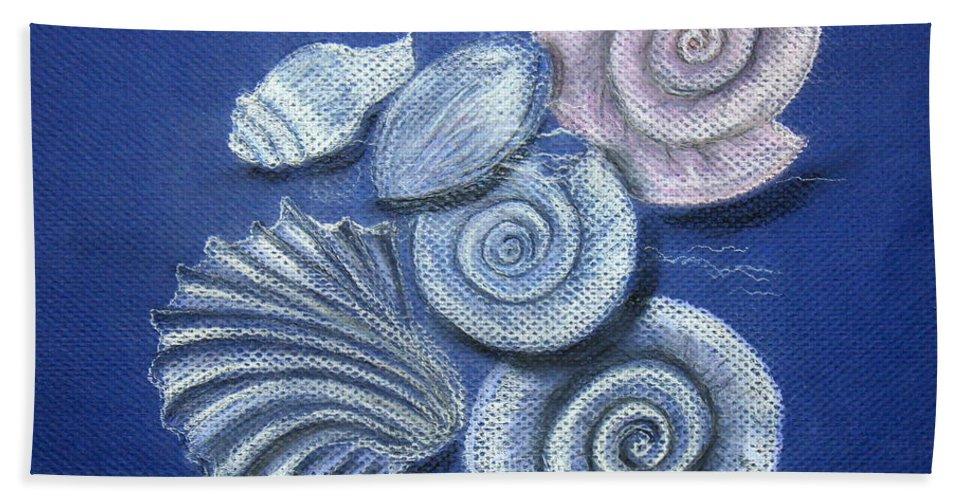 Shells Bath Sheet featuring the painting Shells by Barbara Teller