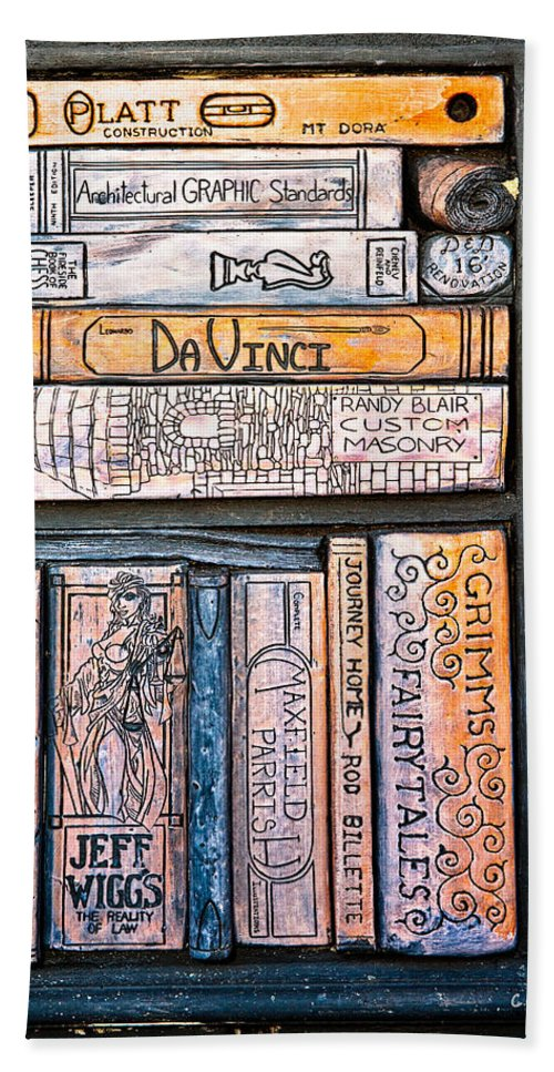 Books Hand Towel featuring the photograph Shelved - 6 by Christopher Holmes