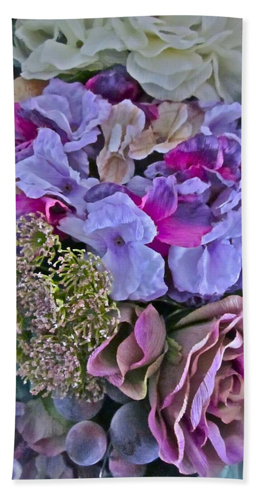 Flowers Hand Towel featuring the photograph Sherry's Silks by Gwyn Newcombe