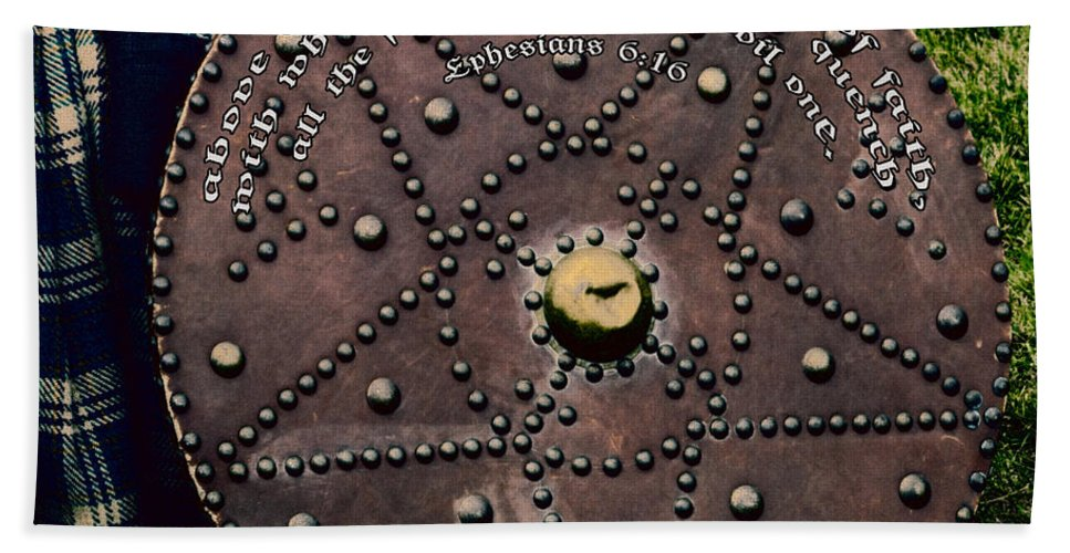 Ancient Hand Towel featuring the photograph Shield Of Faith by Diane Macdonald