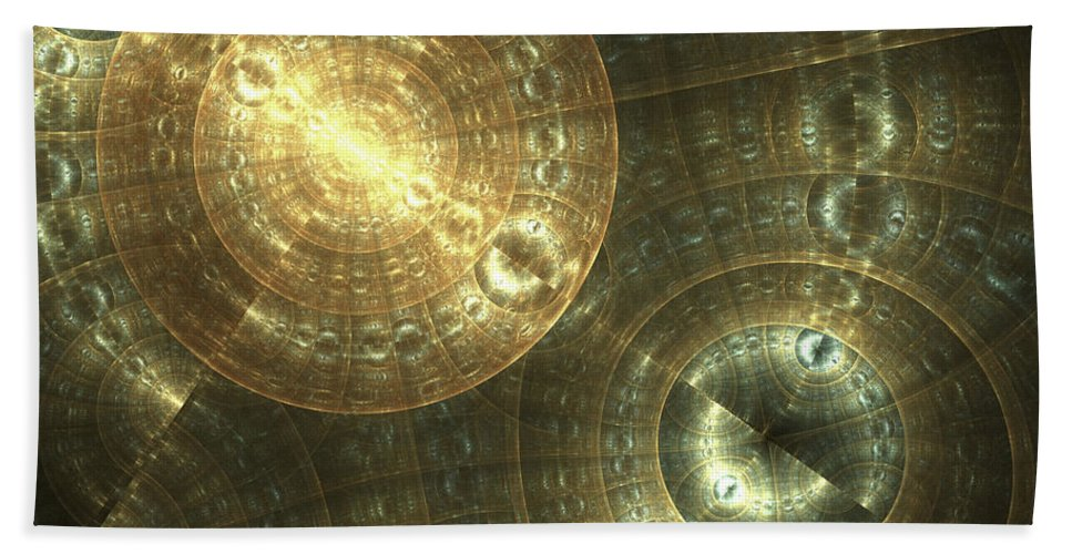Fractal Bath Sheet featuring the digital art Shielded by Amorina Ashton