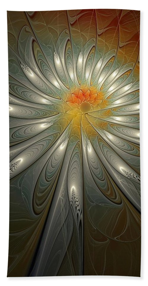 Digital Art Hand Towel featuring the digital art Shimmer by Amanda Moore